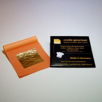 Feines essbares Blattgold 23 Karat - 50 x 50 mm