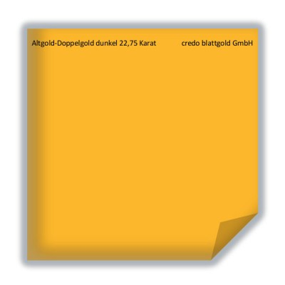 Blattgold Altgold-Doppelgold dunkel 22,75 Karat transfer