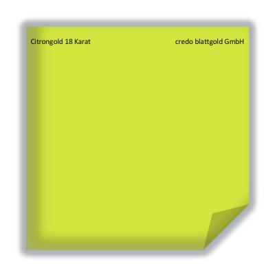 Blattgold Citrongold 18 Karat transfer