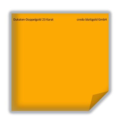 Blattgold Dukaten-Doppelgold 23 Karat lose - 10 Blatt