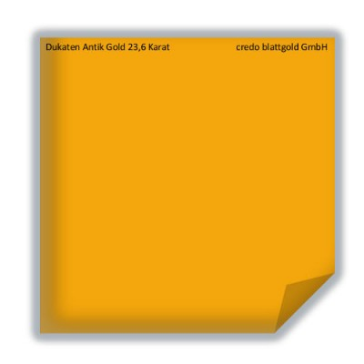Blattgold Dukaten Antik Gold 23,6 Karat transfer