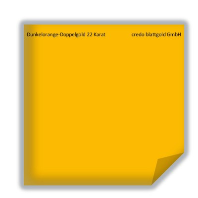 Blattgold Dunkelorange-Doppelgold 22 Karat transfer