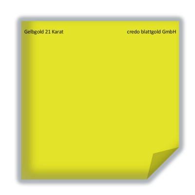 Blattgold Gelbgold 21 Karat transfer