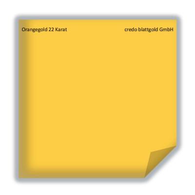 Blattgold Orangegold 22 Karat transfer