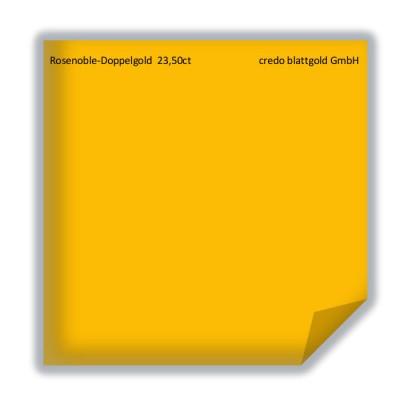 Blattgold Rosenobel-Doppelgold 23,5 Karat transfer