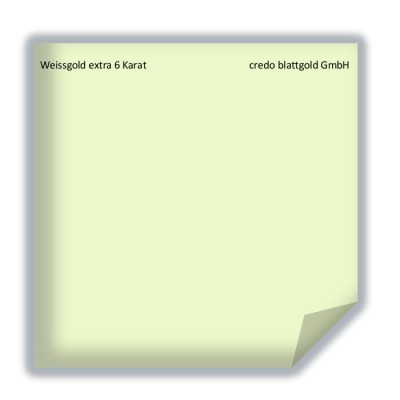 Blattgold Weissgold extra 6 Karat transfer