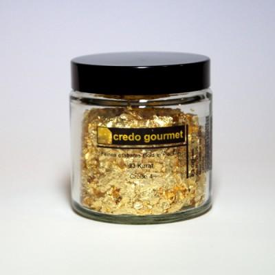 Blattgoldflocken - Grob - 23 Karat - Größe 4