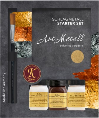 Kölner Schlagmetall Starter Set Art Metall - Mittelgold 2,5