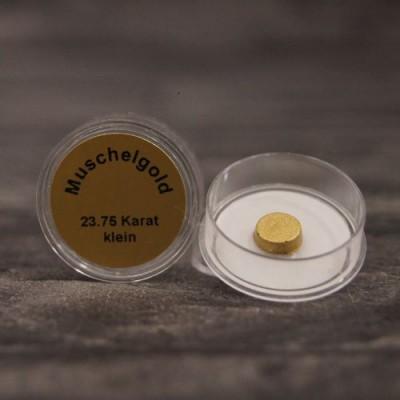 Echtes Muschelgold, 23,75 Karat, wasserlöslich, Durchmesser  ca. 7 mm