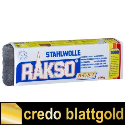 Rakso Stahlwolle fein - 200 g - Packung in verschiedenen Feinheitsgraden
