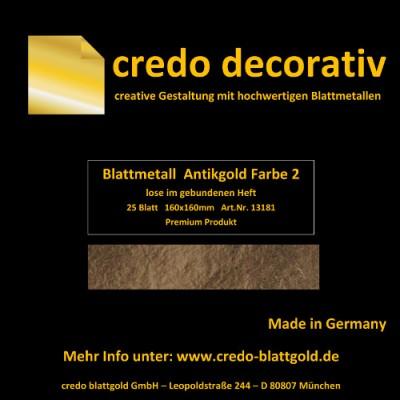 Schlagmetall Antikgold Farbe 2 lose
