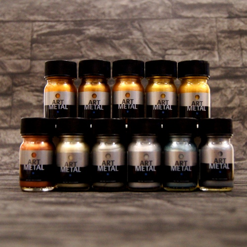 Metallglanzlack Art Metal 11-Set a 30 ml