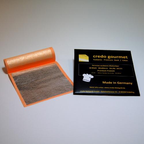 Feines essbares Blattsilber 80 x 80 mm
