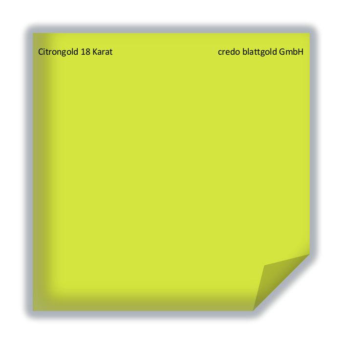 Blattgold Citrongold 18 Karat transfer-26380