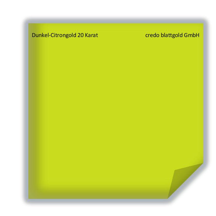 Blattgold Dunkel-Citrongold 20 Karat transfer-26390