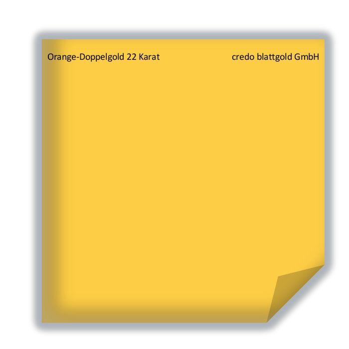 Blattgold Orange-Doppelgold Blattgold 22 Karat lose - 10 ...