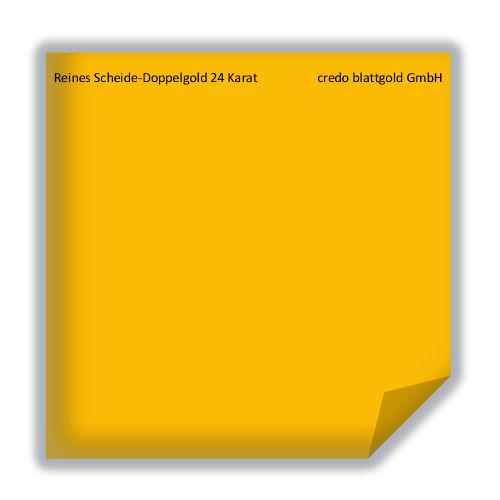 Blattgold Reines Scheide-Doppelgold extra dick 24 Karat - transfer 10 Blatt
