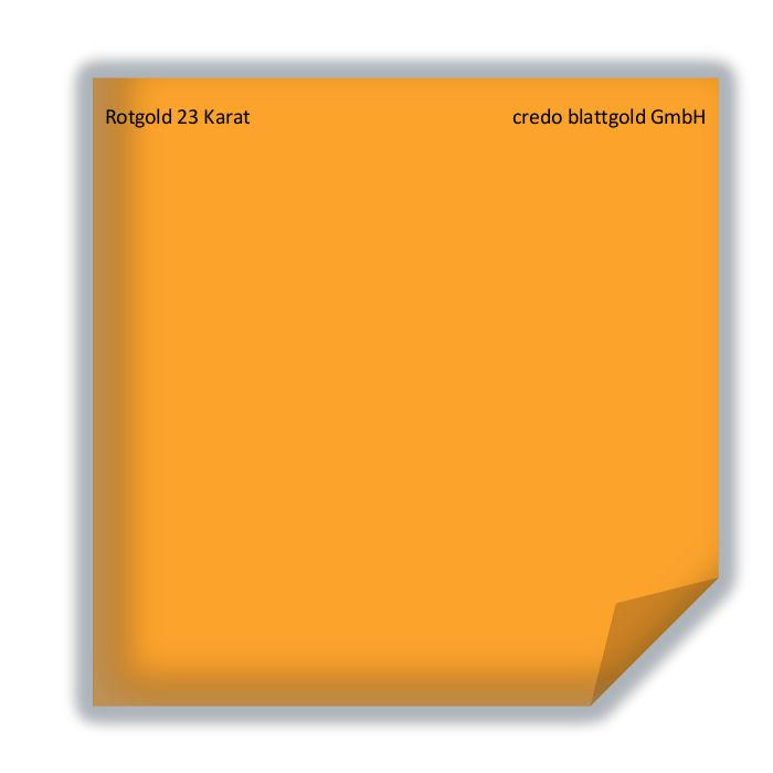 Blattgold Rotgold 23 Karat - transfer 10 Blatt