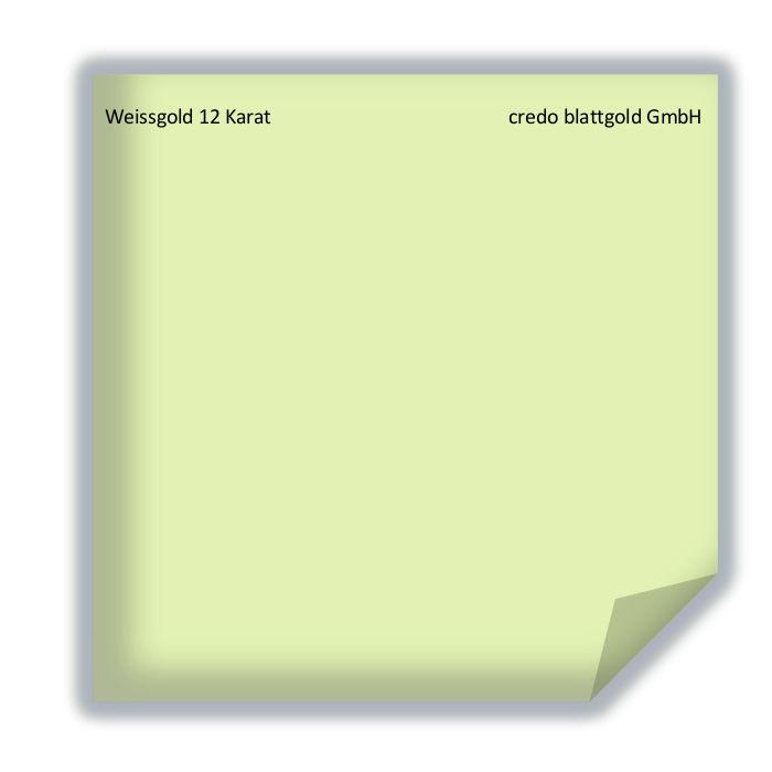 Blattgold Weissgold 12 Karat Blattgold transfer - 10 Blatt