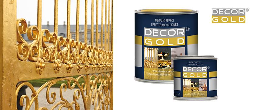 Metallglanzlack Decor Gold