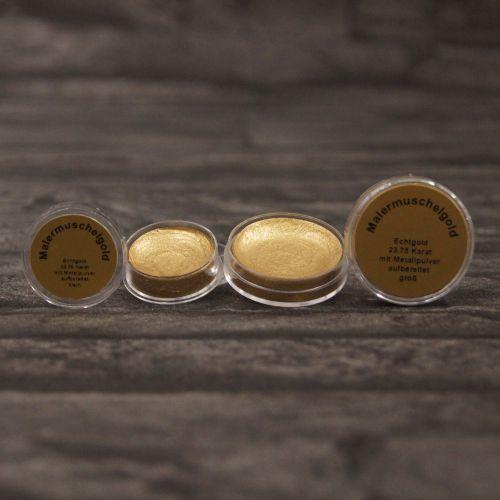 Malergoldmuschel, Echtgold 23,75 Karat, klein