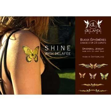 Temporäre Tattoos aus 24 karätigem Gold - Schmetterlinge