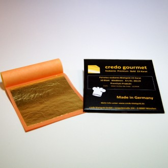 Feines essbares Blattgold 23 Karat - 80 x 80 mm