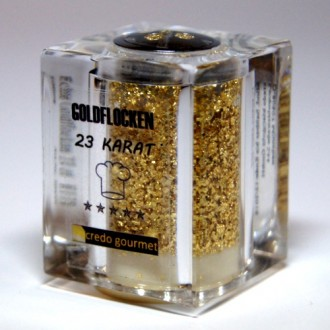 Goldstreuer Deluxe 23 Karat essbares Blattgold - 100mg Goldflocken