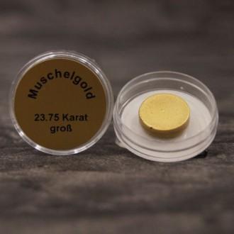 Echtes Muschelgold, 23,75 Karat, wasserlöslich, Durchmesser ca. 15 mm