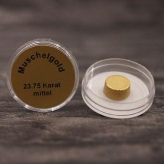 Echtes Muschelgold, 23,75 Karat, wasserlöslich, Durchmesser ca. 10 mm