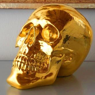 Schädel in 24 Karat Gold
