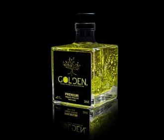 Organisches hochwertiges Olivenöl mit echtem feinstem Blattgold
