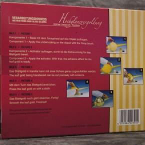 Starterset echtes Vergolden mit Blattgold echt - Kölner Instacoll Base + Activator
